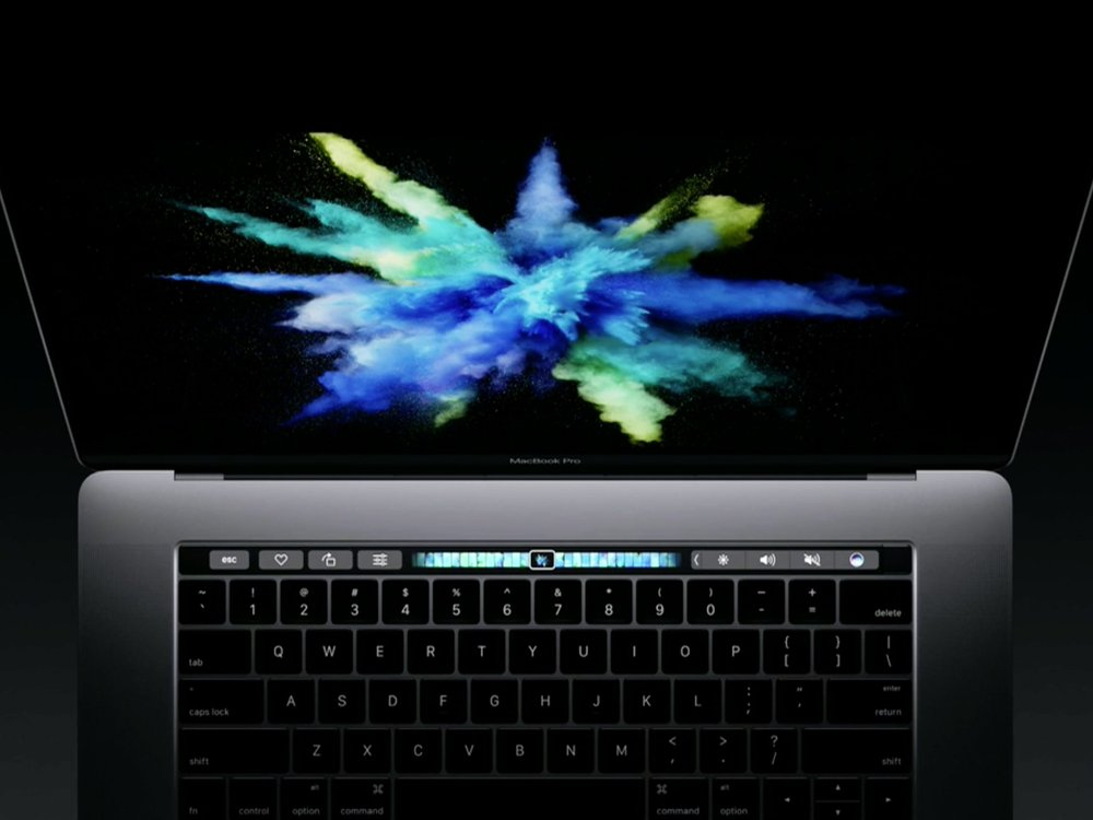 Source: Wired, The MacBook Pro with Touchbar overhead shot