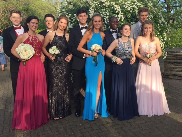 The most exhausting part of the night: prom pictures! Left: juniors pose for a classic prom photograph at Brandywine Park. Image courtesy of Katie Evancho.