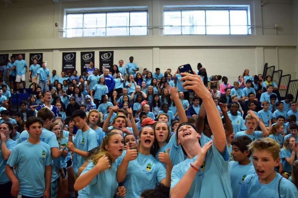 The freshman picture from the fall pep rally. Photo courtesy of the Charter School of Wilmington.