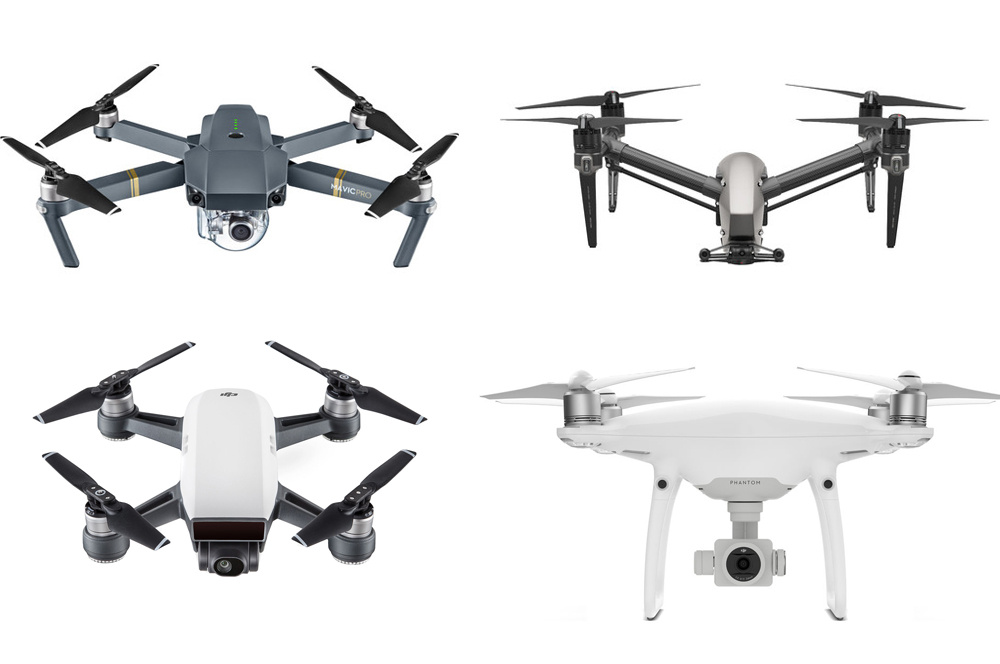 Photo from The Verge. DJI's consumer drone lineup before the Mavic Air