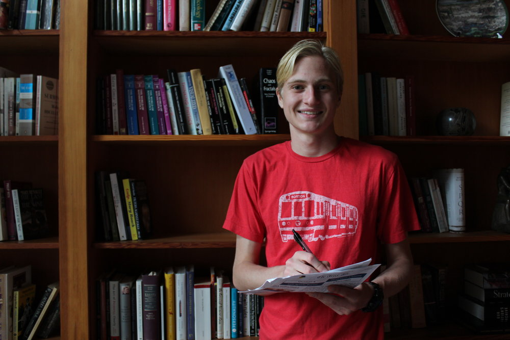 The co-founder and editor of Charter's current student newspaper, The Force File, reflects on his experience and bids farewell to the club as a graduating senior. Photo by Isabel Snyder.