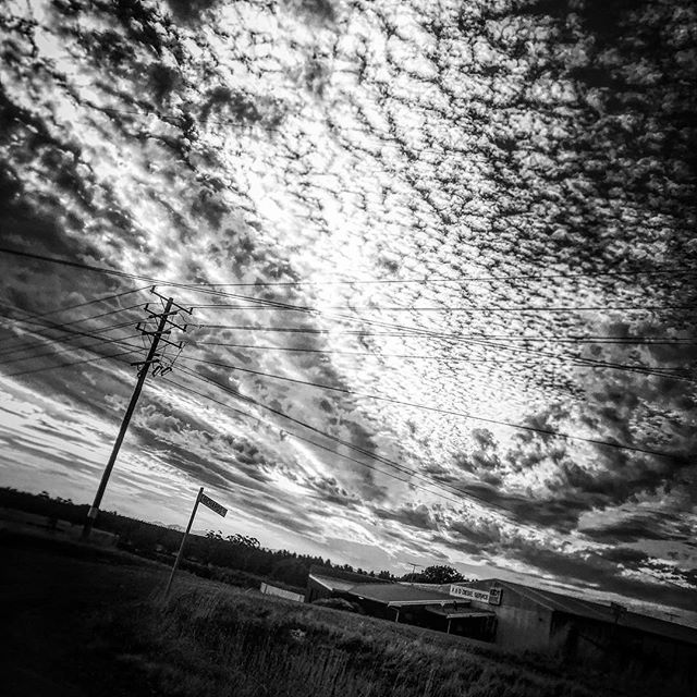 Headed home 2. #picoftheday #country #blackandwhite #sky #western #clouds ##bw