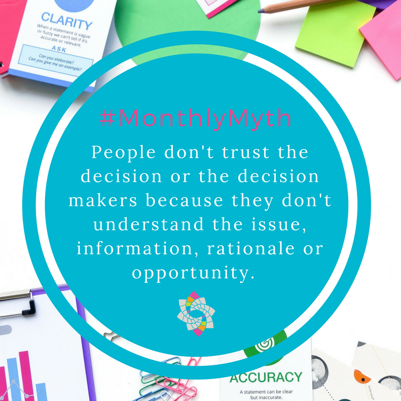 MosaicLab monthly myth - why community members don't trust decisions