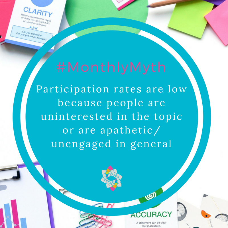 MosaicLab monthly myth - participation rates in community engagement