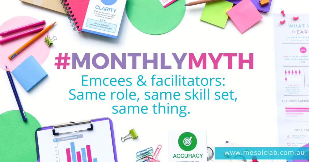 Monthly Myth Emcees and Facilitators - Same or Different?