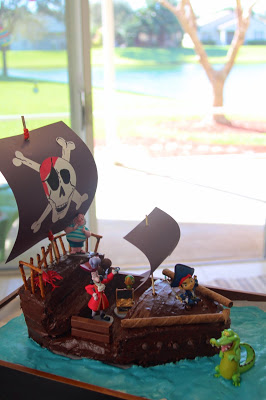 Magnificent Pirate Ship Birthday Cake Tutorial The Lavender Apple Lavender Funny Birthday Cards Online Inifofree Goldxyz