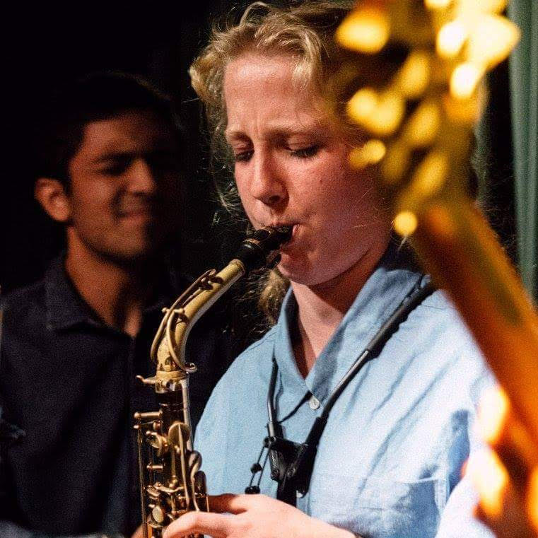 Flora Carbo on sax