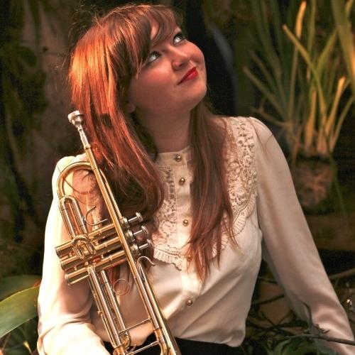 Audrey Powne   on trumpet