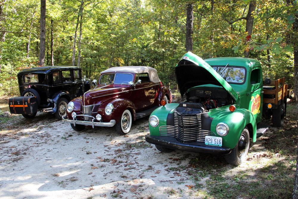 Schott sedan, Larry's '40 Ford & Mike's ?? truck