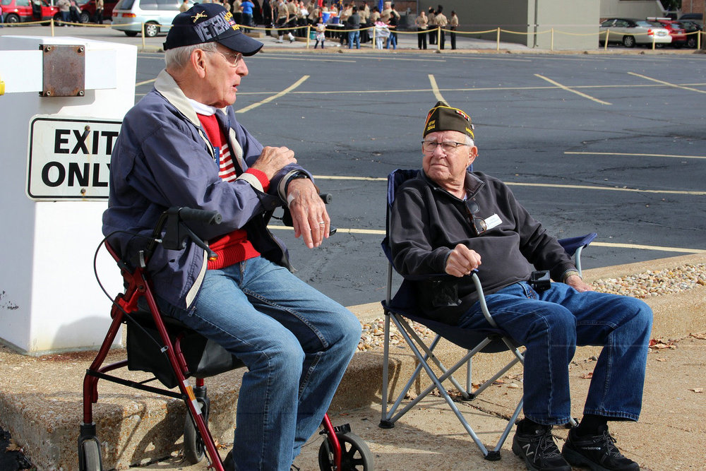 Korean War Vet Gene Wetzel & WWII Vet Gene Appelbaum from our club
