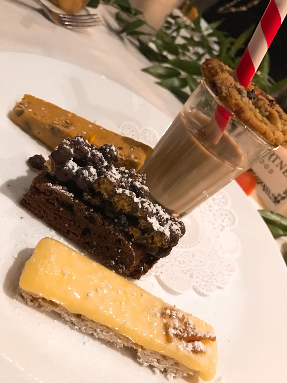 Happy Moo Year:  Milk Punch, Mom's Chocolate Chip Cookie, Lemon Bar, Mexican Brownie and Toot's Fudge