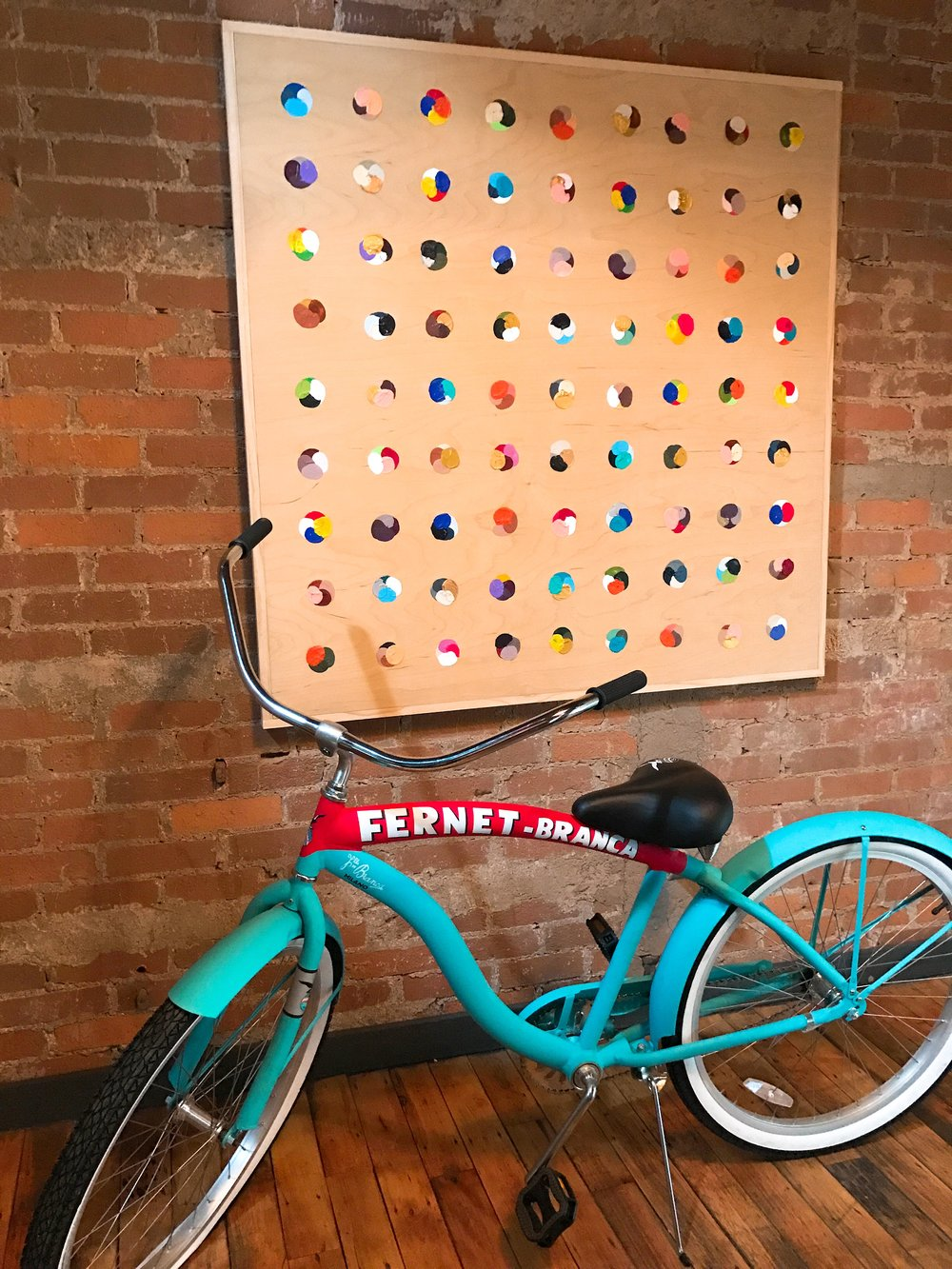 I can't even... How adorable is this bicycle?!?  Fernet, please!