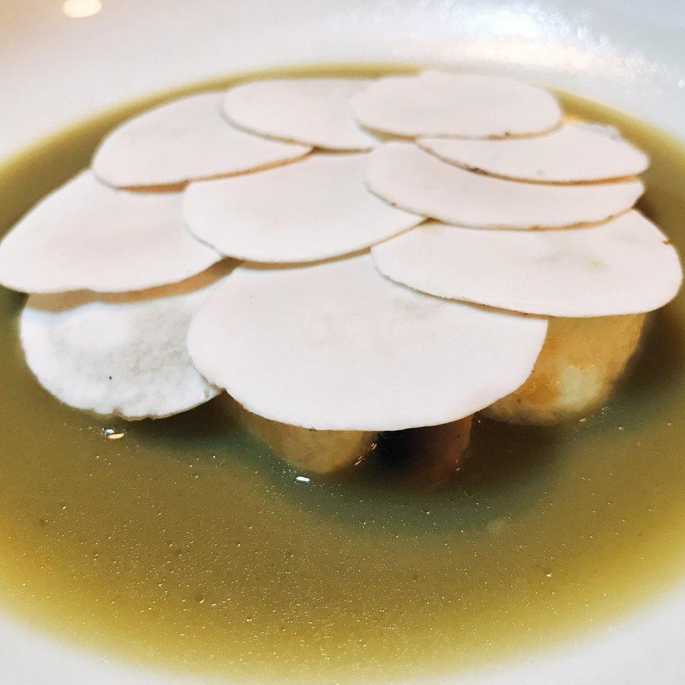 Ricotta Dumplings with Mushrooms and Pecorino Sardo