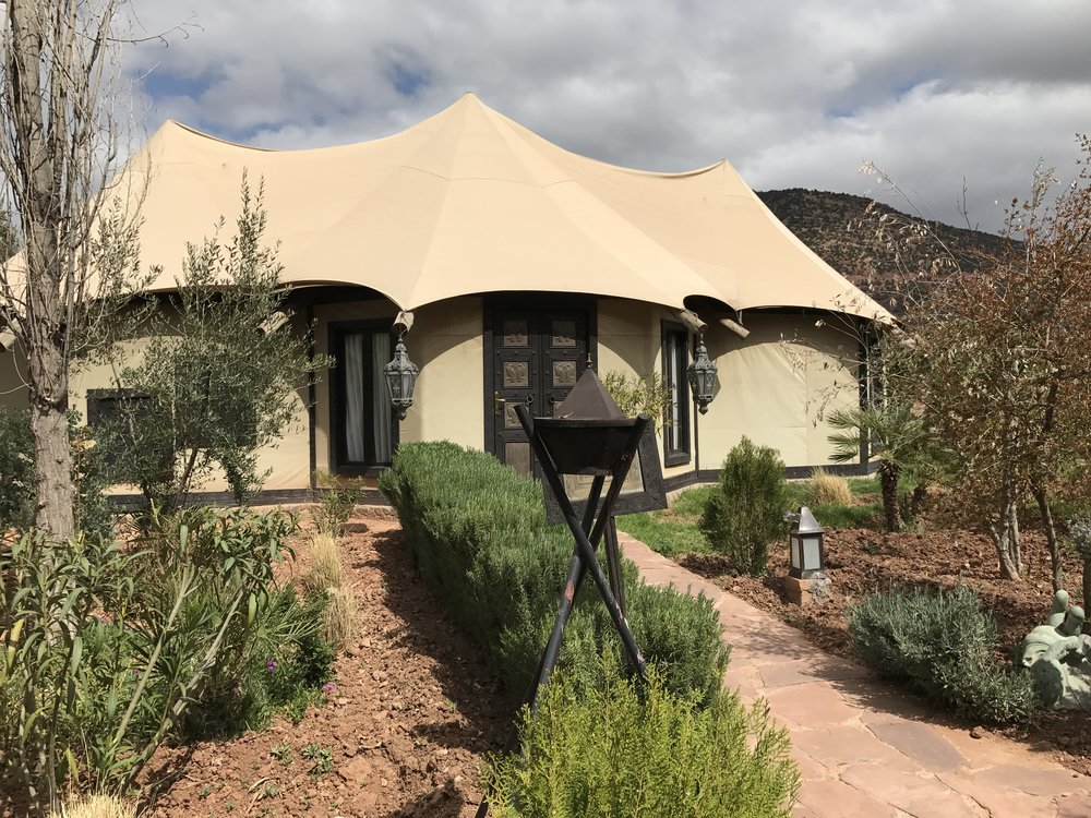 One of the ten luxury Berber tents on the property