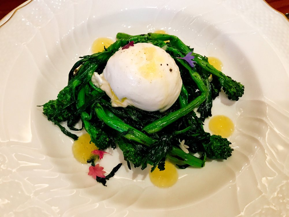Burrata, Broccoli di Cicco and Sorrento Lemon