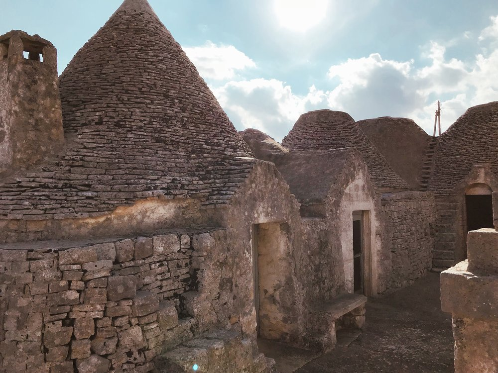 Original trulli dating back to the early 1700's