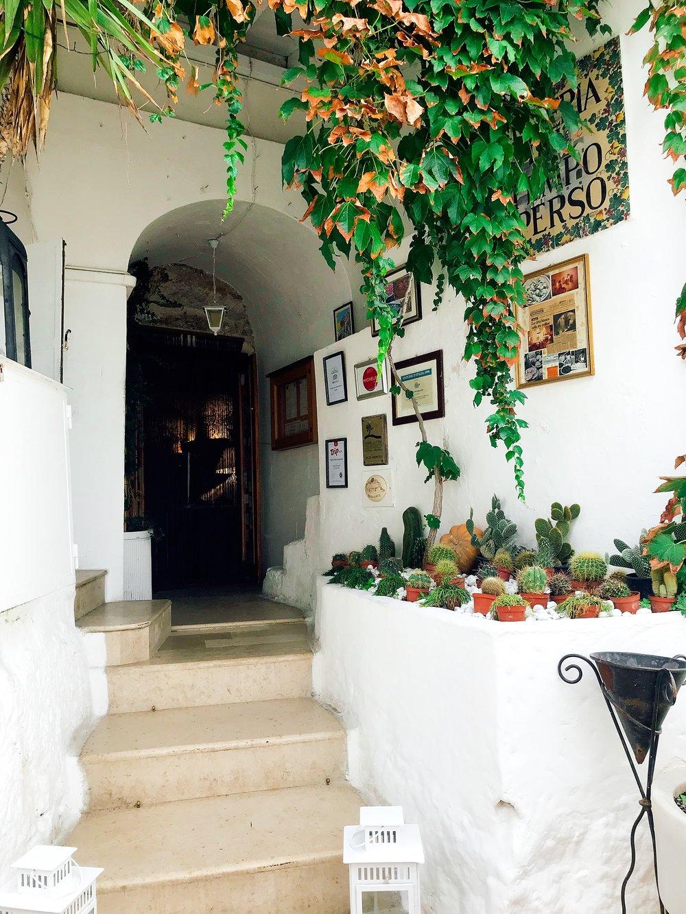 The Darling Entrance Of Osteria Del Tempo Perso