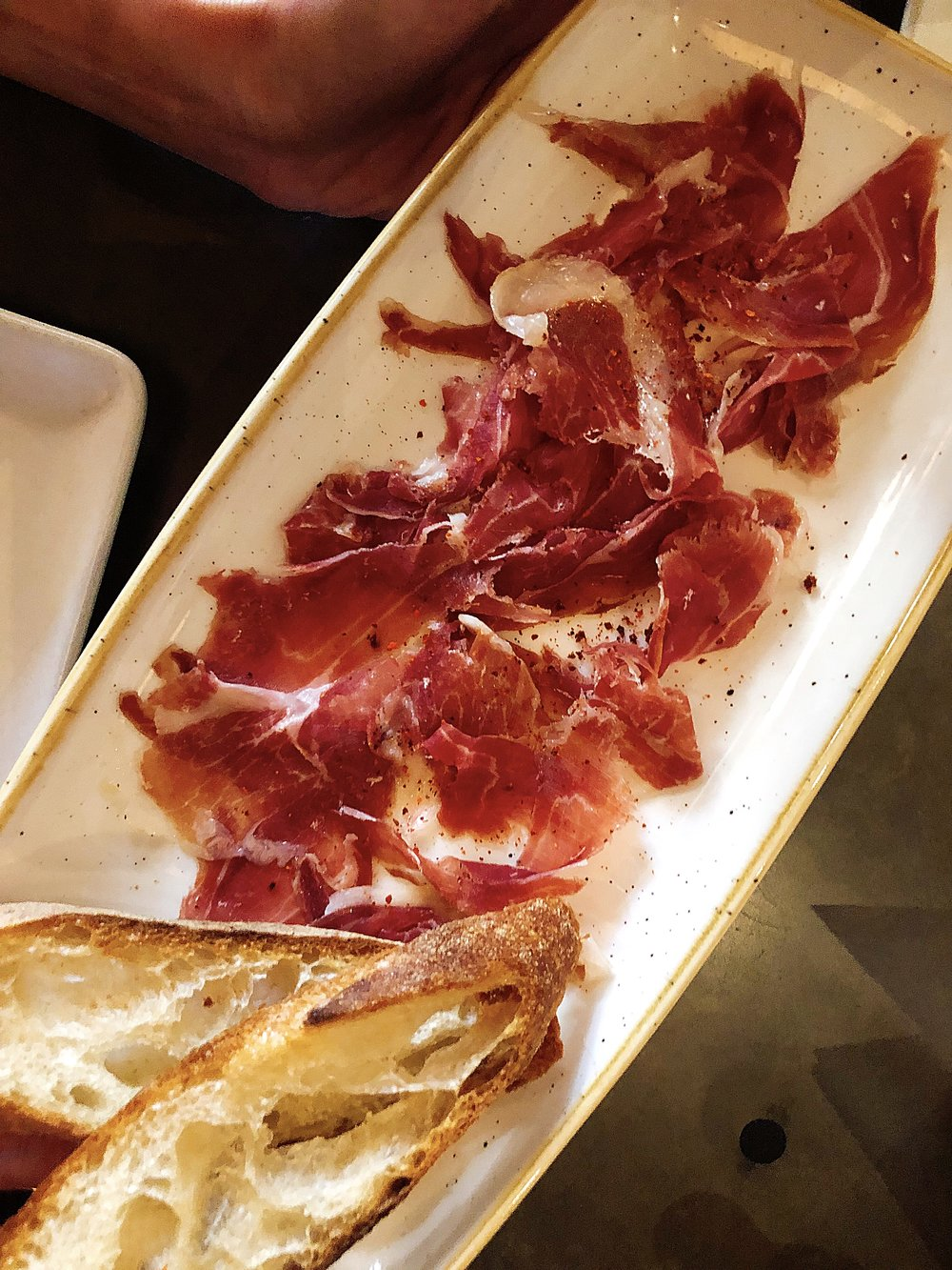 The Jamón Iberico +  Garlic Crouton