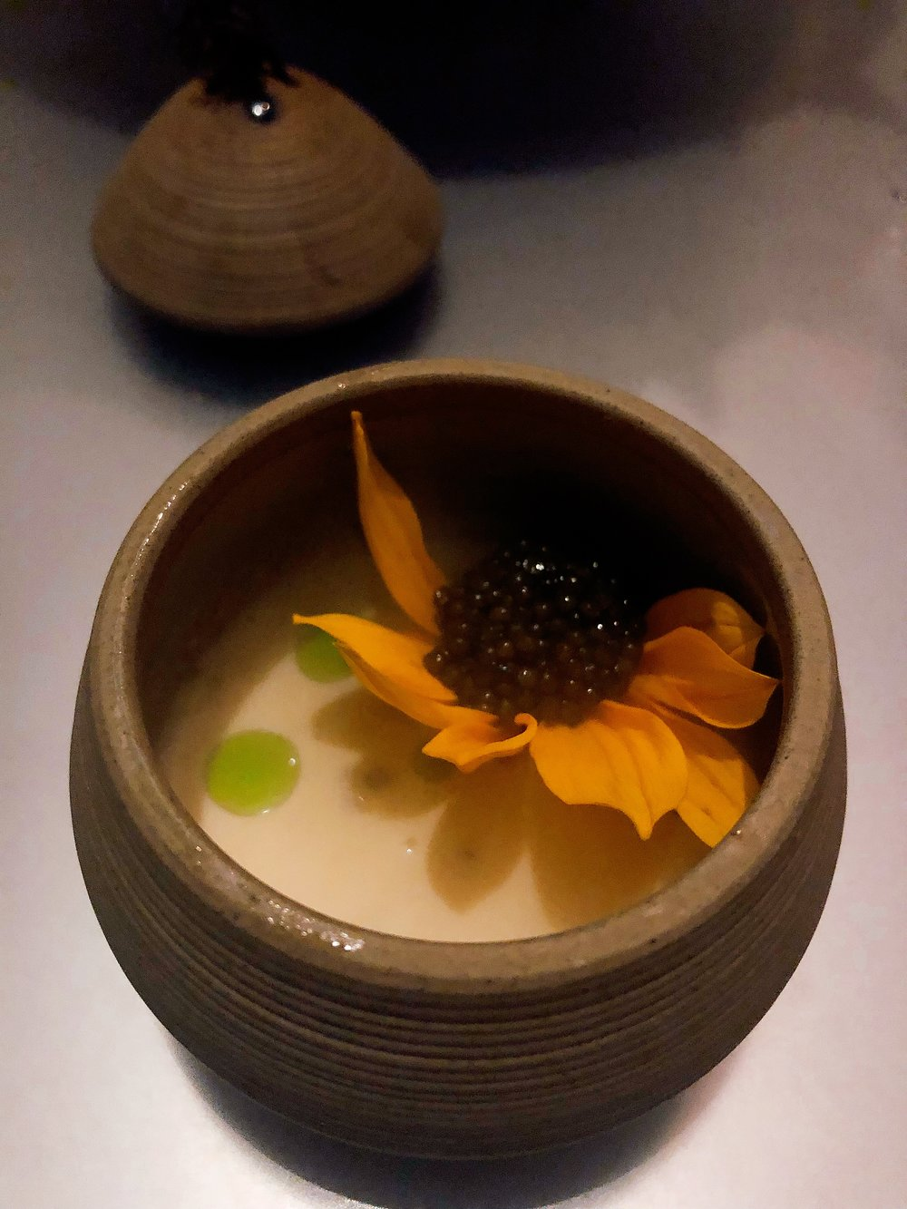 Smoke | Osetra + Sunflower + Onion + Lemon