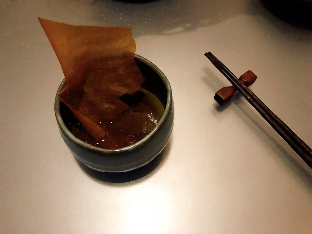 Paper | Langoustine + Bouillabaisse + Olive Oil