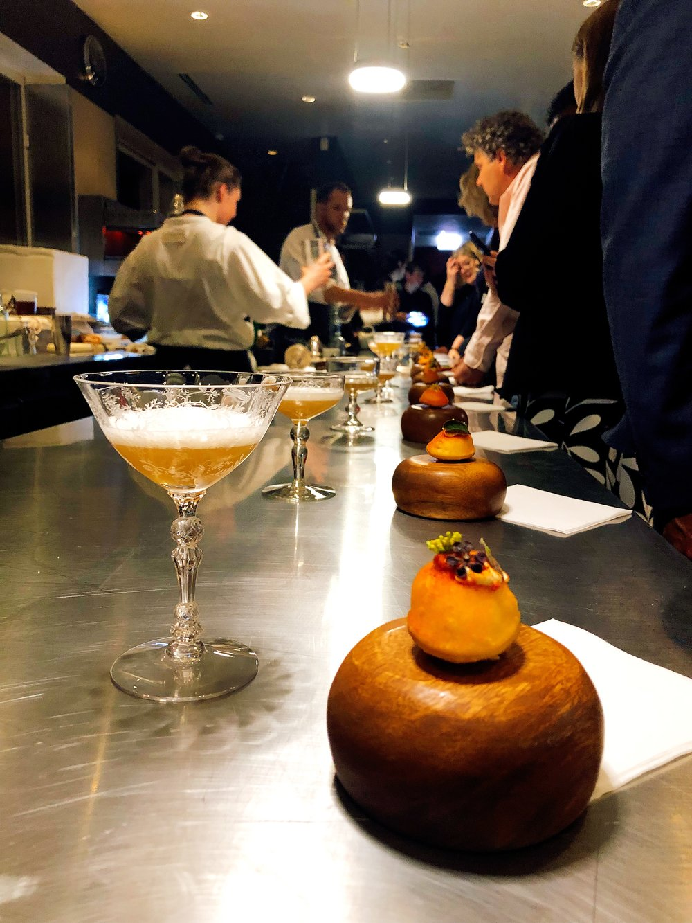 Cocktails and Connoisseurs In The World Famous Alinea Kitchen
