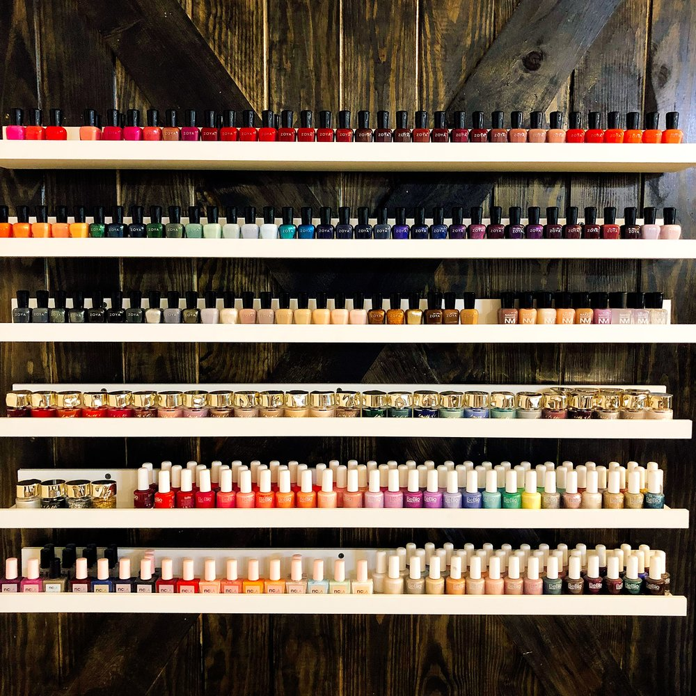 PAINT Nail Bar Color Wall Including Zoya, Smith and Cult , NCLA And Many More