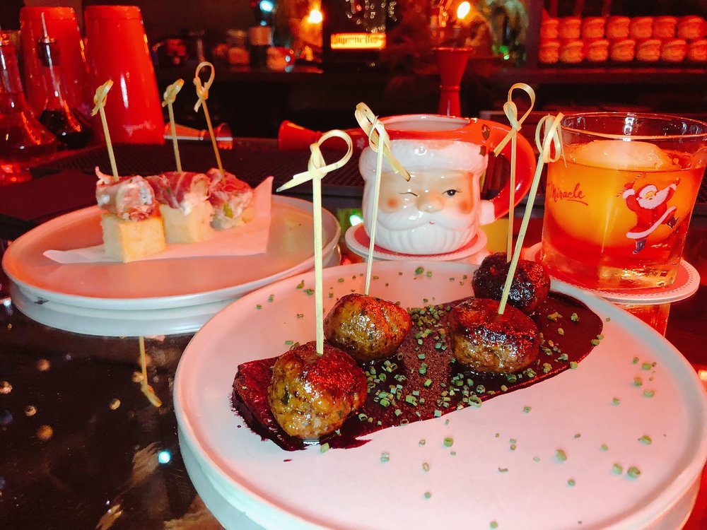 Swedish Reindeer Meatballs + Midwestern Sushi Paired With Mrs. Claus + Cookie For Santa