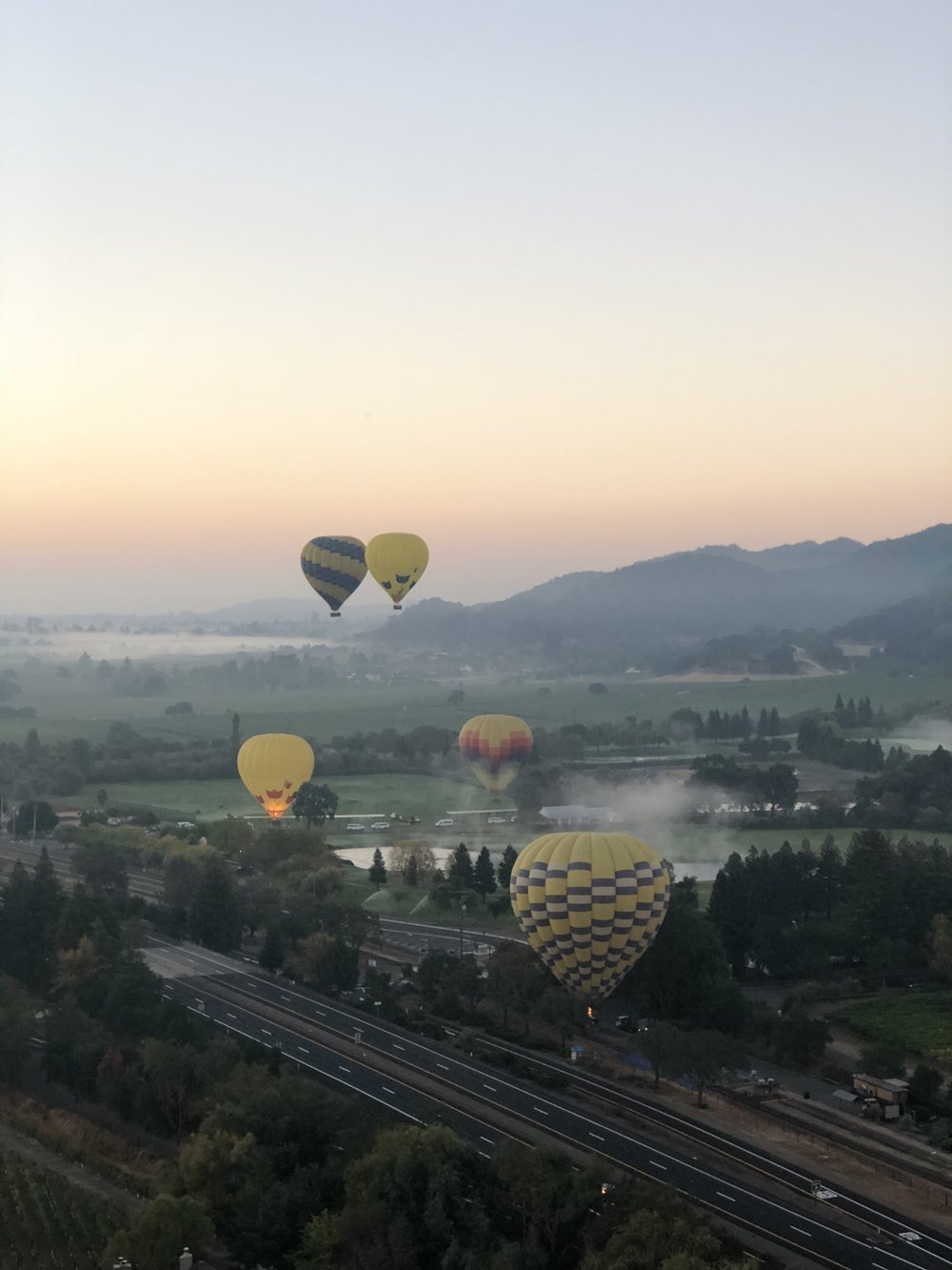 Sunrise Over Napa Valley