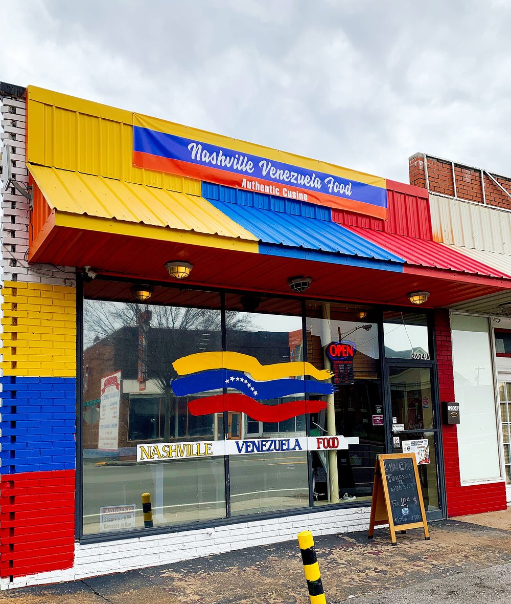 You Can't Miss The Brightly Painted Exterior Of Nashville Venezuela Food