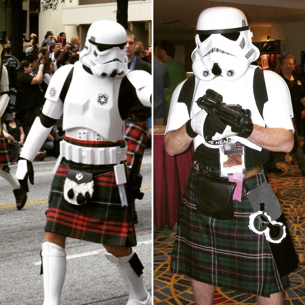 That's right everyone, TWO Storm troopers in kilts, get ready to drink!(Thanks for Mr. J for the photos!)