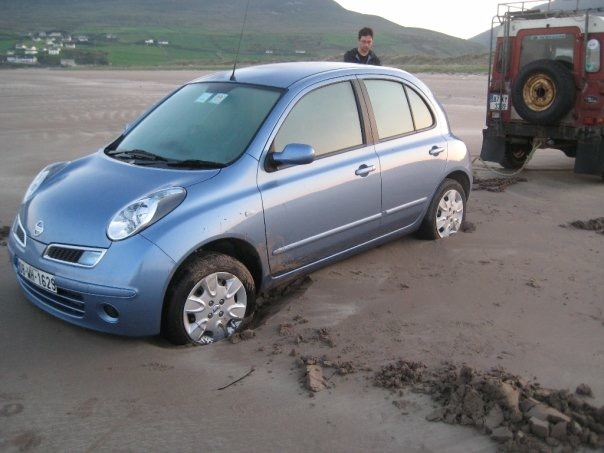 Z's rescue from financial ruin on Inch Beach, Ireland