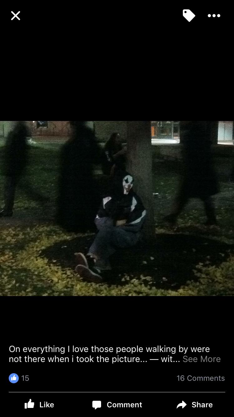 Shadow people on Halloween