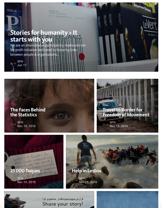 Follow us onmedium.com/storiesforhumanity. To order print publications, visit our store.