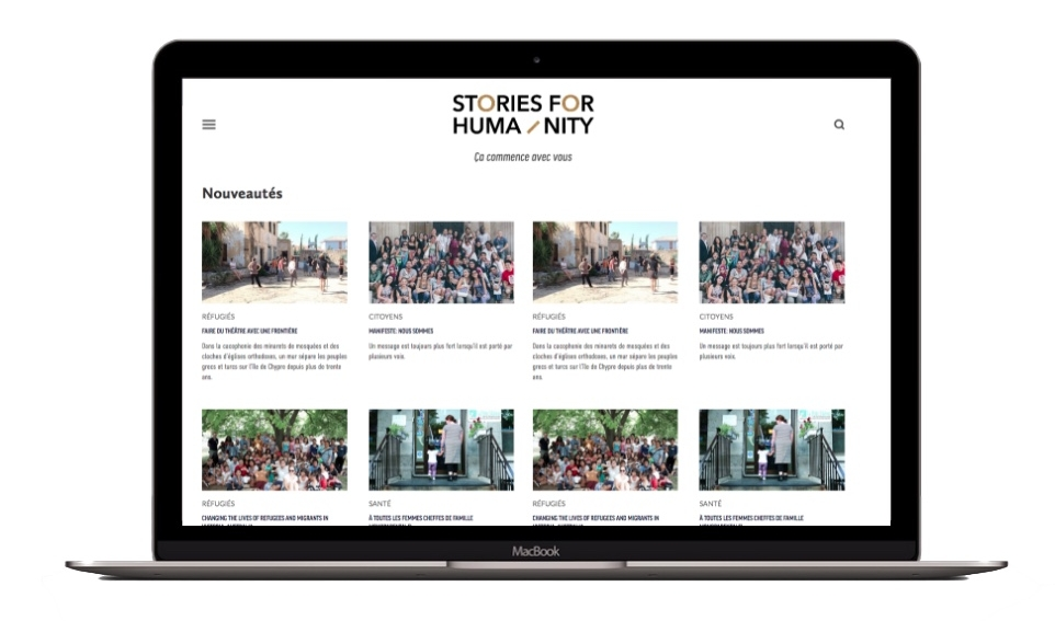 Plateforme média Stories for humanity