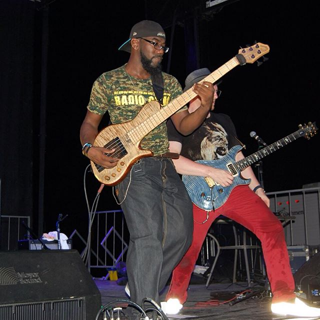 @bizzythemachine rocking the #ellabass in #cuba with @austinparkband !! So cool to see my basses being played internationally.