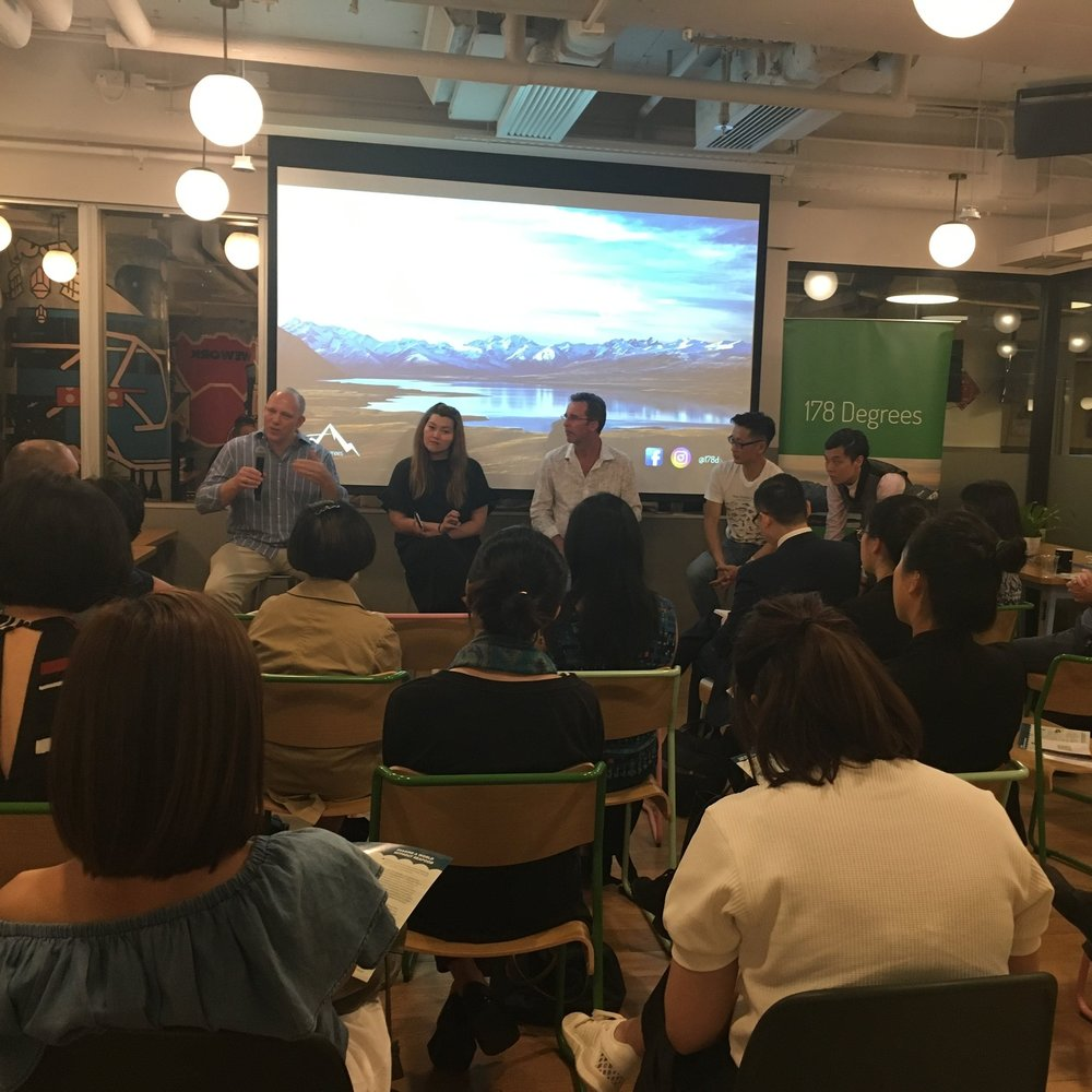 Lively discussion about the state of sustainability in Hong Kong