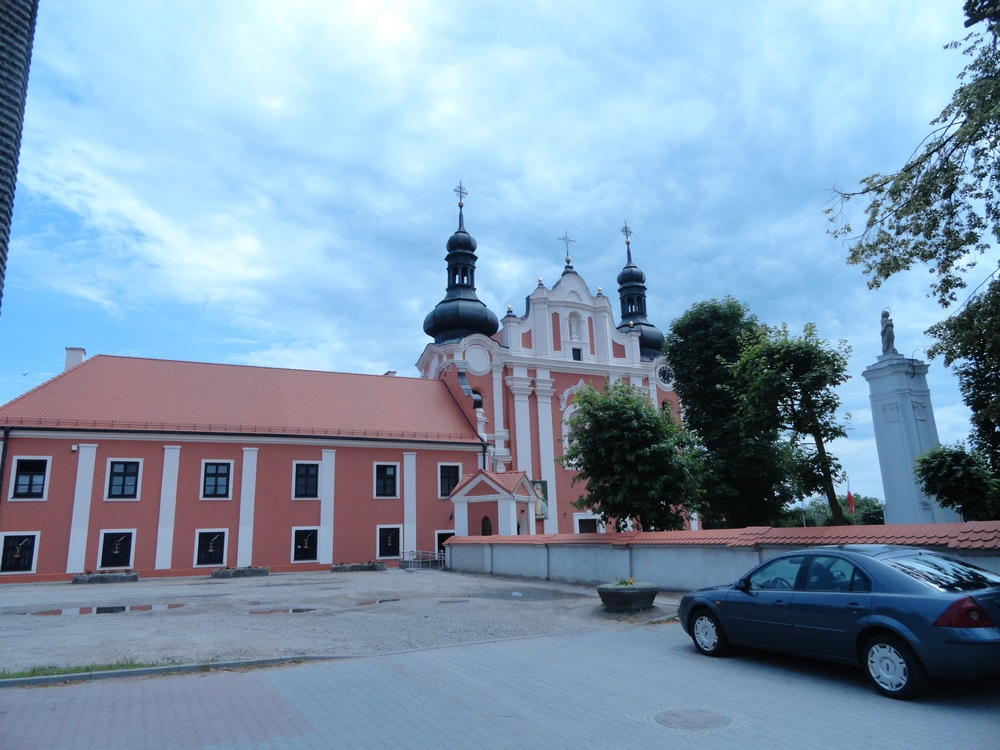 Catholic church in  Kłodawa , two blocks from town square. Quite impressive for a small town.