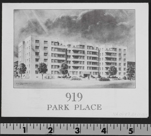 Mannie Miller and family lived at 919 Park Place, Brooklyn