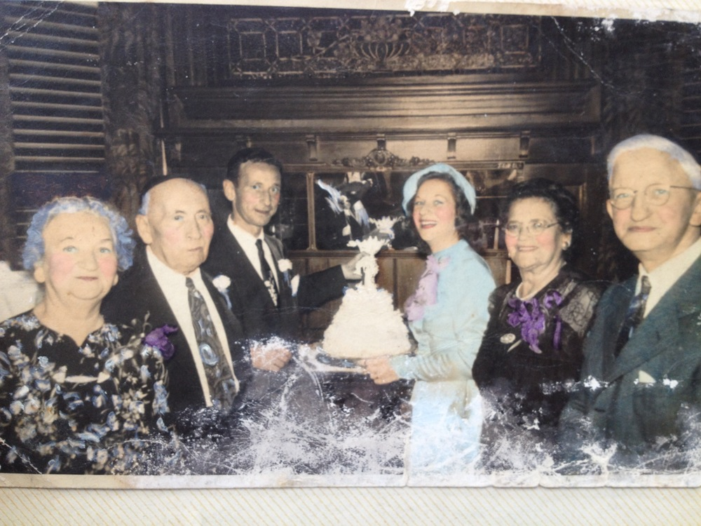 Olive Goodwin and Oscar Miller's Wedding with Morris and Leah Miller and Emma and Harry Goodwin, 1949