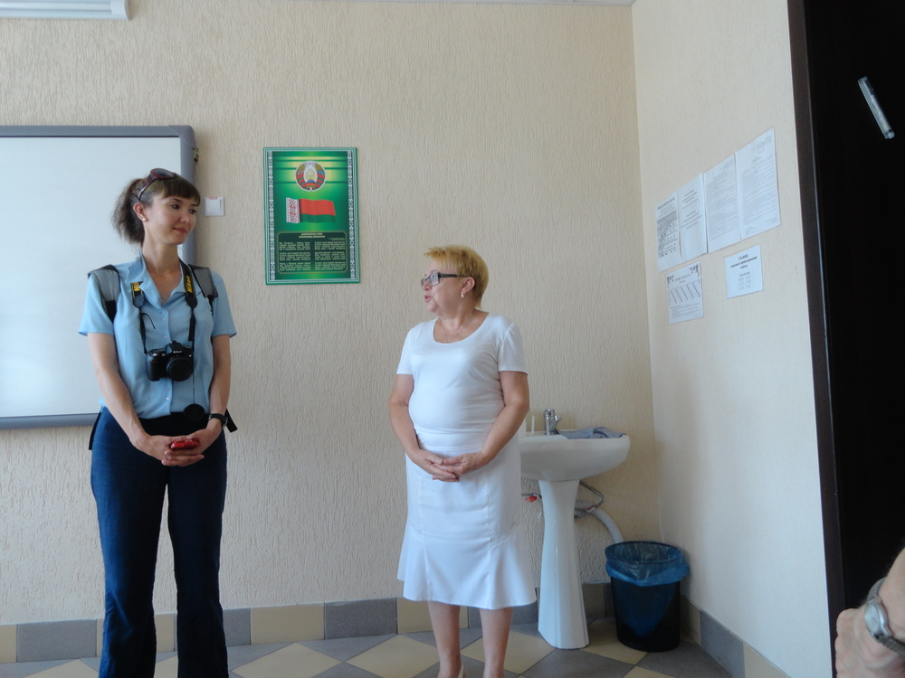 Katya Makarevich and the non-Jewish Assistant Director of the school