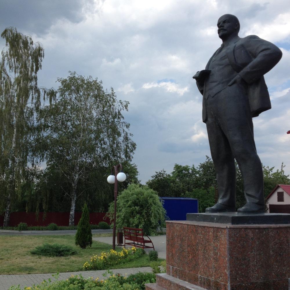 Lenin statue, found everywhere in Belarus.