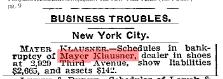 Meyer Klausner bankruptcy NYT 22 Feb 1901