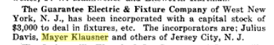 Guarantee Electric & Fixtures. Electric World 30 Sep 1916