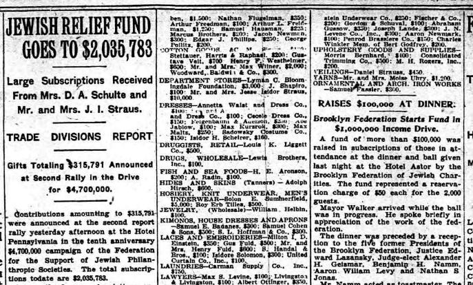 MH Rogers - Jewish Federation NYT 12 Nov 1926