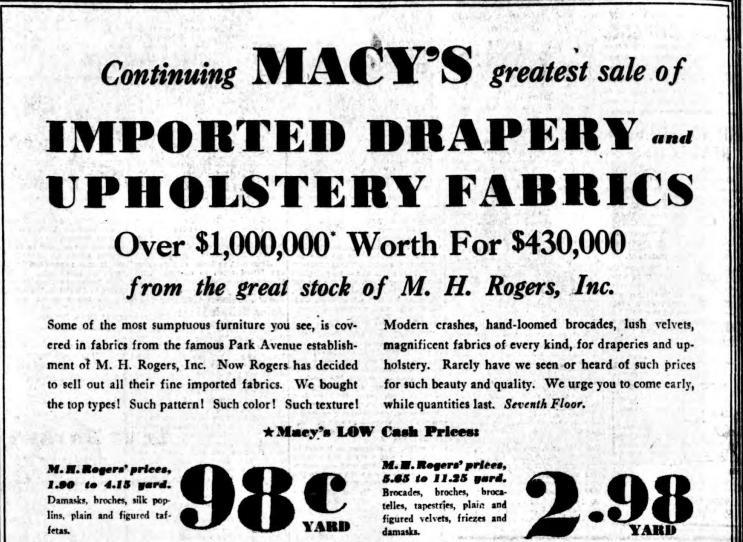 M.H. Rogers Macy's ad Sun 16 Oct 1935