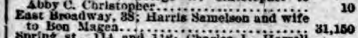 Harris and Rebecca Samilson sale of 38 E Broadway, NY Herald 1 Feb 1896