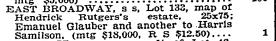 E. Broadway, NYT 4 Jul 1900