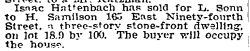 East 94th St, NYT 25 Nov 1905
