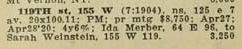 Ida Samilson Merber, 155 W 119th St, Real Estate Record & Builders Guide 1 May 1920