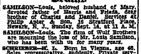 Louis Samilson, 14 Sept 1947